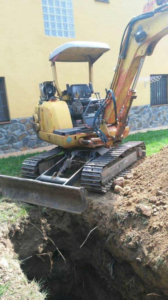 Excavación en jardín