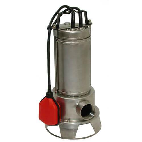 Electrobombas sumergibles para achique aguas cargadas.