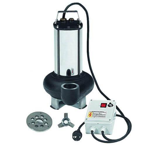 TRITURANT130 Electrobombas sumergibles con sistema de trituración, idóneas para la evacuación de aguas residuales domésticas